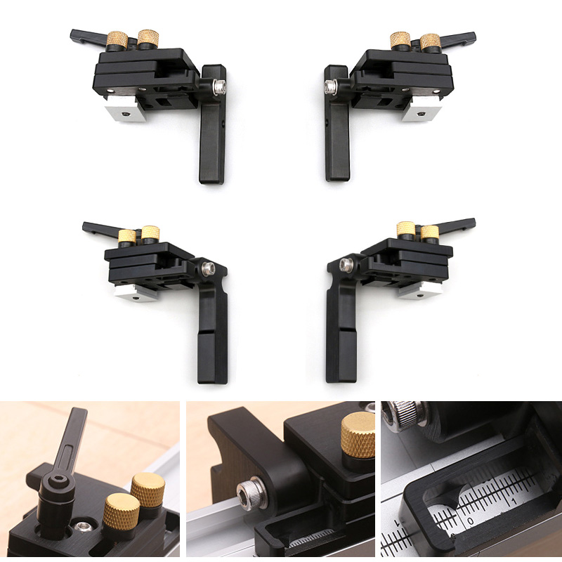 1pc High Accuracy Aluminum Alloy Milling Woodwork T-Slot Track Stop Miter Track Stop Limiter Table Saw Woodworking Workbench DIY