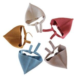 Bebê crianças chapéus de malha chapéu para meninos meninas cor sólida bonito elf orelha proteção boné engrossar outono inverno esportes ao ar livre