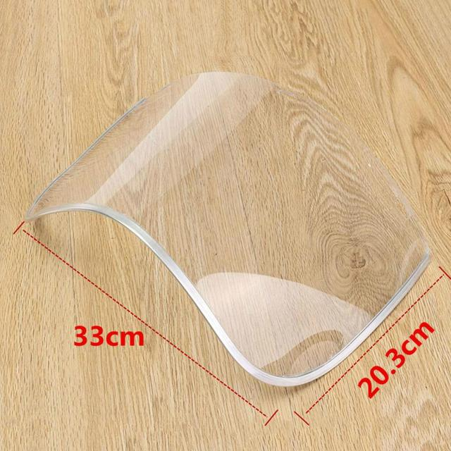 Anti-Saliva Dustproof Mask Transparent PVC Safety Faces Shields Screen Anti-Virus Spare Visors For Head Eye Protection dust mask 3