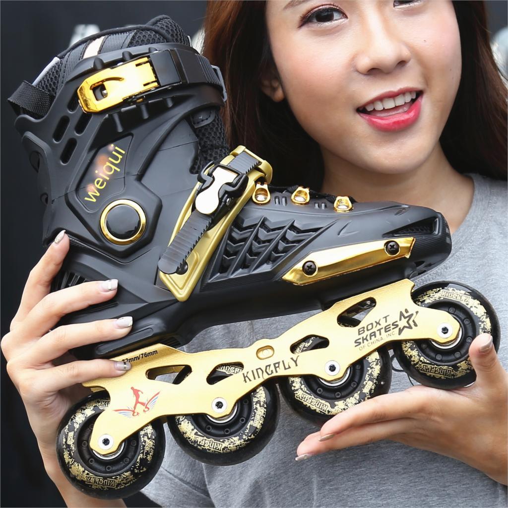 Street Skates Adult Men Woman Inline Roller Skates Training Pantines Outdoor Shoes Size 35-44