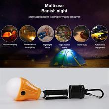 Мини портативный освещение фонарь палатка свет светодиод лампа аварийный лампа водонепроницаемый подвесной крючок фонарик кемпинг свет