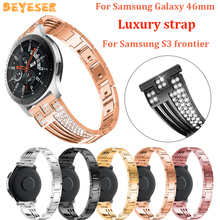 22mm Metal Bracelet watch band For Samsung Galaxy 46mm/gear S3 strap Replacement For huawei watch GT watches straps wristband 22mm leather watch band for samsung galaxy 46mm gear s3 classic frontier watches strap replacement for huawei watch gt wristband