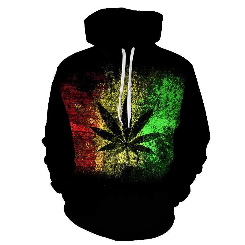 Hot 3D Printed Weed pullover Leaf Men Women Hooded Sweatshirts Casual Long-sleeved Hoodie Unisex Outwear Streetwear Mens Hoodies