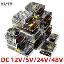 KAYPW – Transformateur d'alimentation pour bande LED ou vidéosurveillance, adaptateur de source d'électricité pour éclairage, CA 110V ou 220V à CC 5 V, 12 V, 24 V, 48V