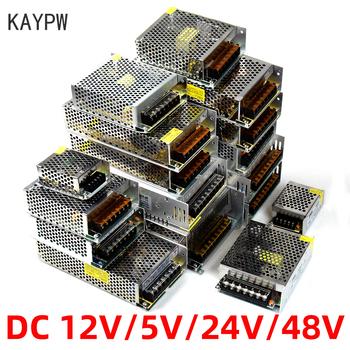Kaypw zasilacz transformator światła AC 110V 220V do DC 5V 12V 24V 48V zasilacz źródło Adapter do taśmy Led CCTV tanie i dobre opinie Single 500W