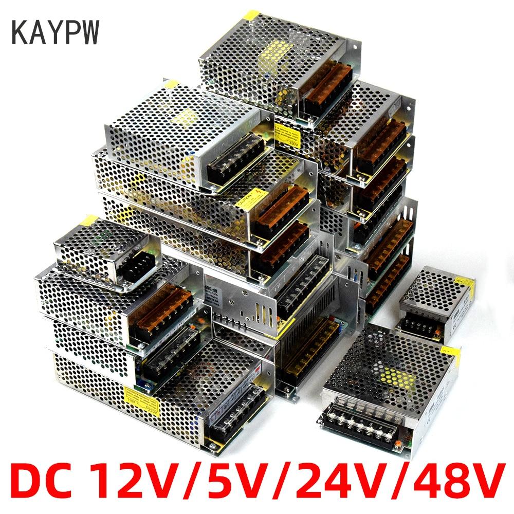 Transformador leve ac 110 v 220 v da fonte de alimentação do interruptor de kaypw para dc 5 v 12 v 24 v 48 v adaptador da fonte de alimentação para o cctv da tira conduzida