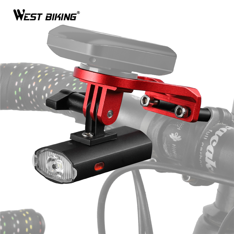 WEST BIKING Bike Light With <font><b>Mount</b></font> Holder IPX4 USB Rechargeable Cycling LED <font><b>Flashlight</b></font> Computer <font><b>Mount</b></font> Bicycle Light Torch Lamp image