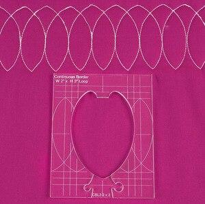 Image 3 - Neue herrscher grenze sampler vorlage set für nähen maschine können schaffen schöne grenzen 1 set = 4 stücke # RL 04W