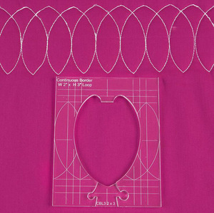 Image 3 - new ruler border sampler template set for sewing machine can create beautiful borders 1 set =4pcs #RL 04W