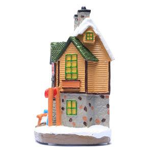 Image 5 - Casa di Villaggio di natale, Natale Inverno Sci Lodge Ornamento Illuminato Scena House