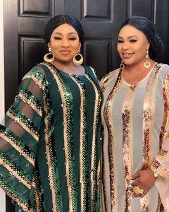 Image 5 - 2020 סופר גודל חדש אפריקאי נשים של פאייטים דאשיקי אופנה רופף רקמת ארוך שמלת אפריקאי שמלת לנשים אפריקאי בגדים