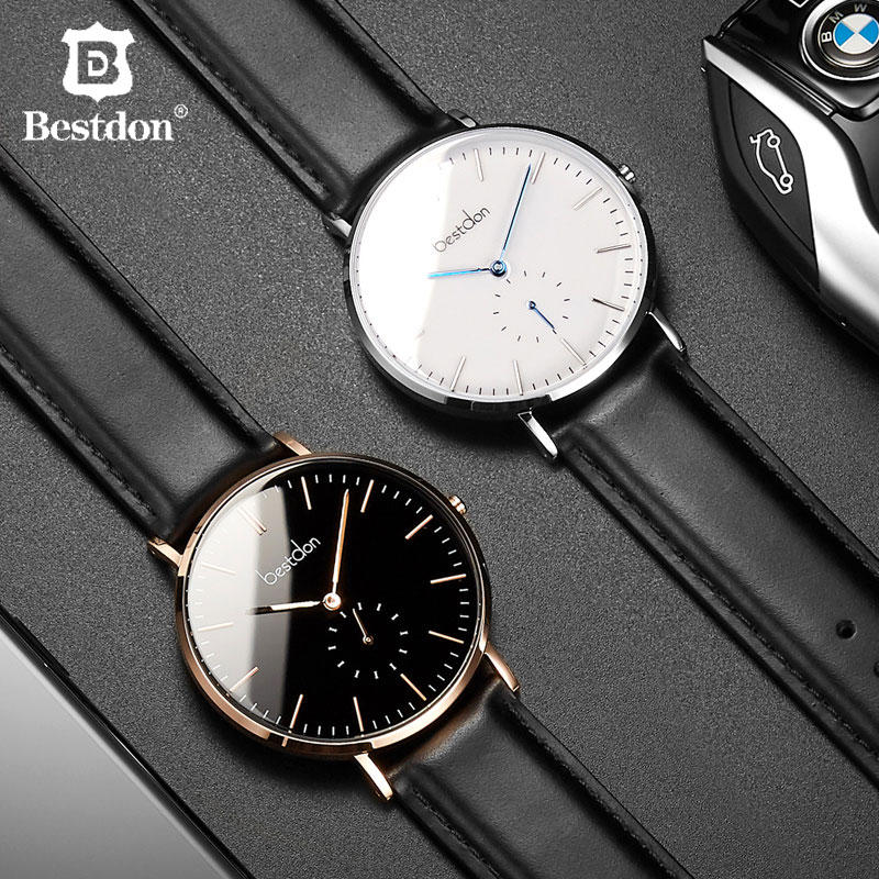 Bestdon Fashion Quartz Clock Men Watch Luxury Full Steel Unisex Dress Casal Waterproof Couple Watch Lover Gift Para Hombre 2020