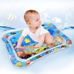 Детский водный игровой коврик с маленьким пенным животиком в виде рыбки, детский игровой коврик для малышей, детский водный коврик для заня...
