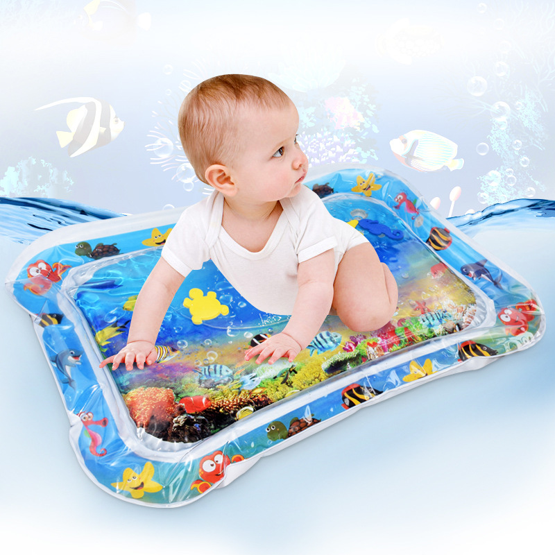 Baby Kids Water Play Mat With Little Foam Fish Tummy Baby Infant Play Mat Time Toddler Activity Play Water Mat For Children