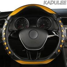 Kadulee microfibra couro capa de volante do carro para hyundai i20 i30 i40 tucson solaris ix35 creta santa fe kona elantra