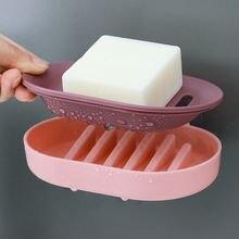 Модная однотонная креативная Коробка для мыла в ванную комнату