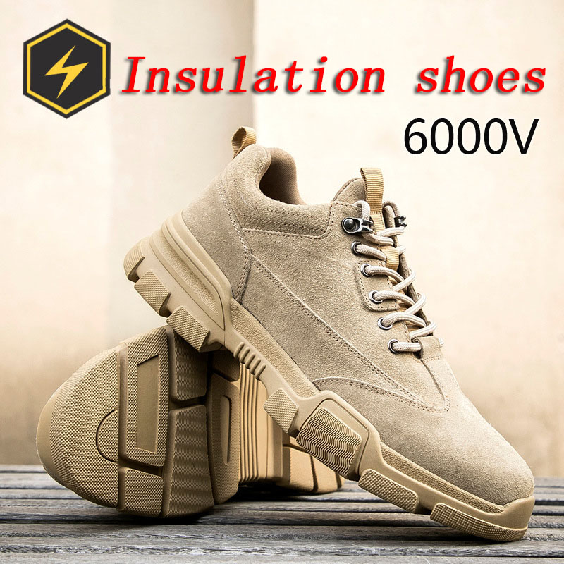 High Voltage Leather Shoes for Electrical Insulation Labor Protection Seasonal Rubber Bottom Cowhide Protection Pure Protective