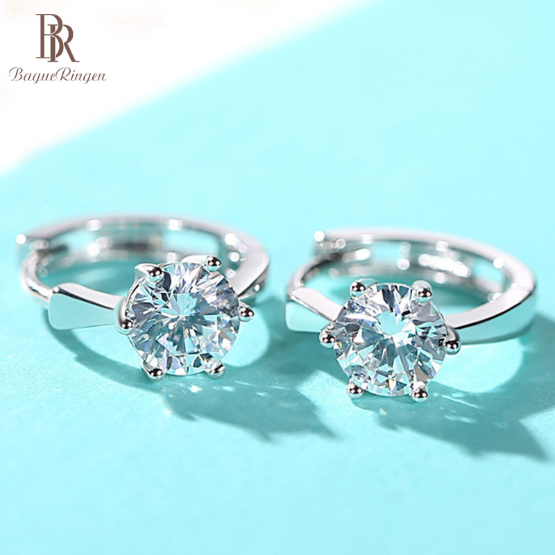 Bague Ringen 3colors Contracted Delicate Silver 925 Jewelry Korean Classic Earrings For Women Eight Hearts And Eight Arrows Gift