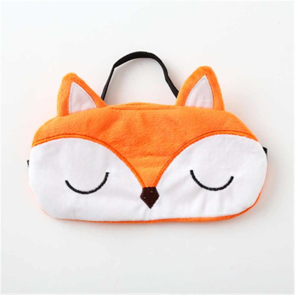 Hoge Kwaliteit 3D Dier Natuurlijke Slapen Oogmasker Eyeshade Cover Vrouwen Mannen Zachte Draagbare Schaduw Blindfold Travel Eyepatch
