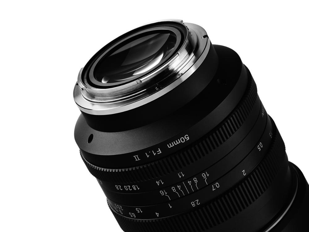 Беззеркальная линза для камеры Kamlan 50 мм F1.1 II, объектив с большой диафрагмой и ручной фокусировкой для Canon и Canon, крепление на E-mount и Fuji (Fuji), с по...