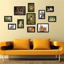 Ensemble de cadres Photo en acrylique noir et blanc, 11 pièces, décoration murale amovible pour maison avec accessoires d'installation