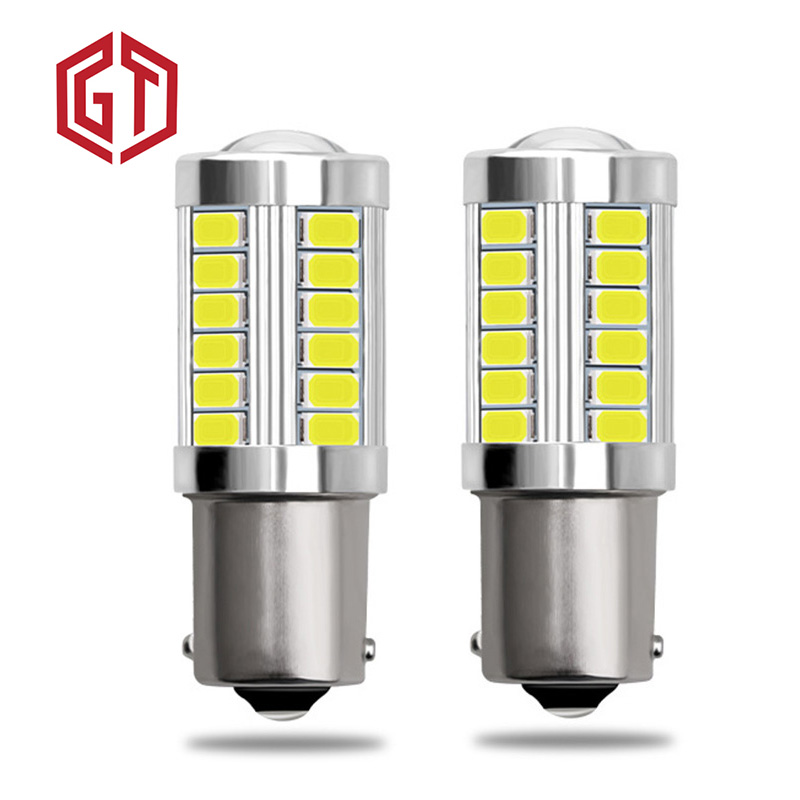GUANGJI 2pcs 1156 7506 BA15S <font><b>P21W</b></font> 5630 5730 <font><b>LED</b></font> Car Tail <font><b>Bulb</b></font> Brake Lights 12V Auto Reverse Lamp Daytime Running Signal Light Z3 image