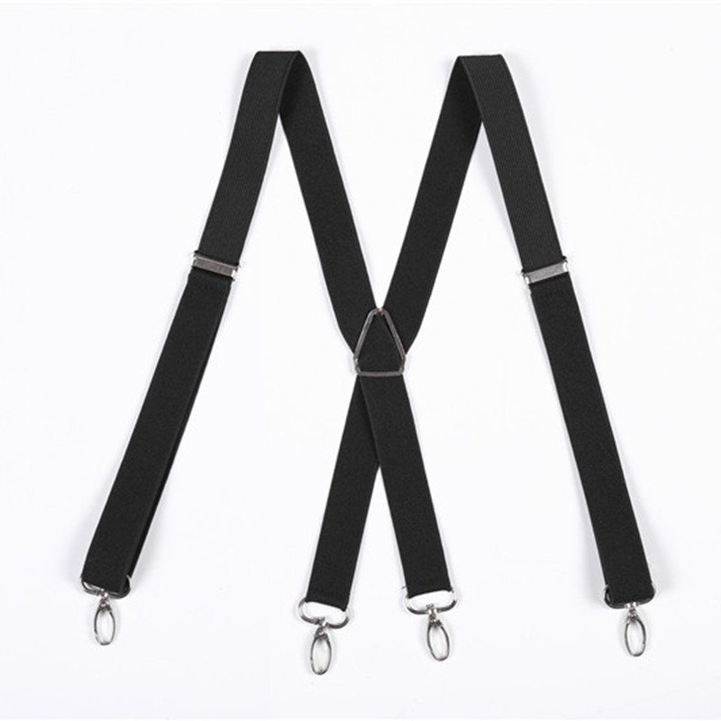 Men'S Shirt Suspenders For Trousers Pants Holder Braces Wedding Suspender Straps 25mm Wide Elastic 4 Strong Metal Clips 2020 New