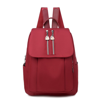 Women Backpack School for Teenage Girls Oxford Solid Soft Red City Casual Bagpack Youth Backbag Female 2020 Summer New