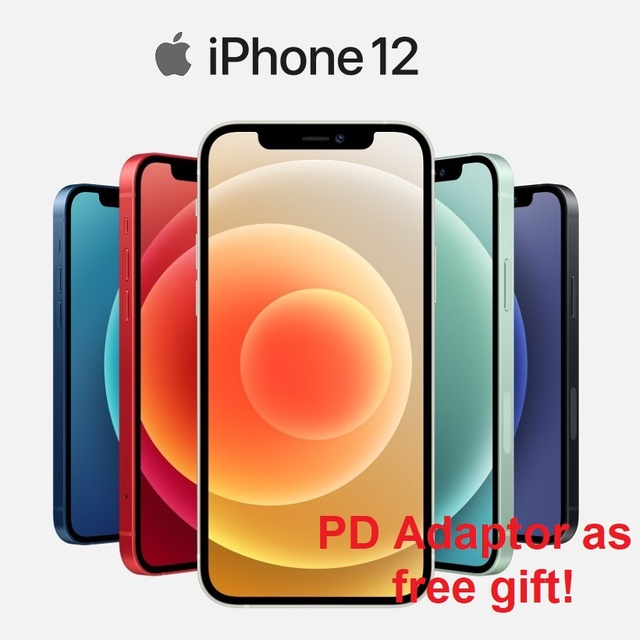 "Authentic Original Brand New iPhone 12/12 Mini 5G 6.7/5.4"" XDR Display 12MP Dual Camera A14 Bionic IOS 14 Smartphone Bluetooth"