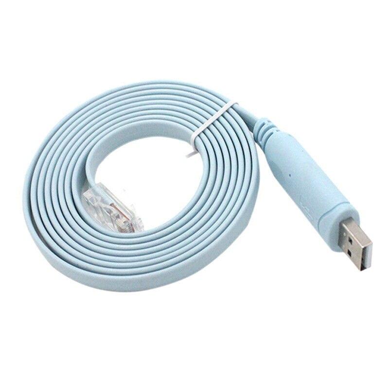 Venda quente 1pc 1.5m usb para rj45 usb para rs232 série para rj45 cat5 console adaptador cabo para roteadores cisco