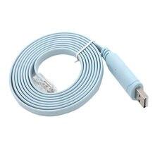 Venda quente 1pc 1.8m usb para rj45 usb para rs232 série para rj45 cat5 console adaptador cabo para roteadores cisco