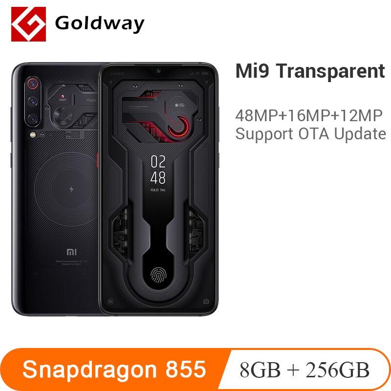 Xiaomi Mi 9 MI9 Transparent 8GB RAM 256GB ROM Smartphone Snapdragon 855 6.39