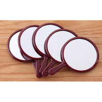 5 Pieces Small Round Hand Held Beauty Makeup Mirrors  Pocket Size Handheld Vanity Mirrors with Slender Handle|Makeup Mirrors|Beauty & Health -