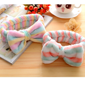 Cosmetic Headband Hair-Accessories Makeup Elastic Flannel Women Bow-Knot-Head Washing-Face