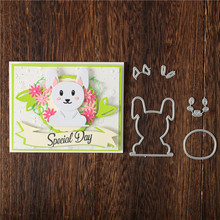 DiyArts Animal Dies Bunny Metal Cutting Dies New 2019 For Card Making Scrapbooking Embossing Cuts Stencil Decor Craft Dies diyarts 2020 new letter dies metal cutting dies scrapbooking for card making metal craft dies alphabet die cuts embossing