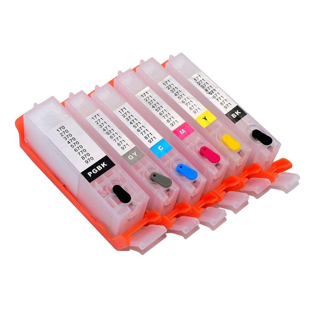 PGI-570 571 перезаправляемый чернильный картридж MG5700 MG5750 MG5751 MG5752 MG5753 MG6800 MG6850 MG6851 MG6852 MG6853 TS5000 TS5050 TS5051