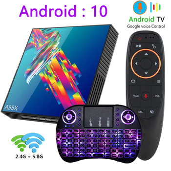 A95X R3 tv box Android 10 4k 2G 16G 4G 32G 64G 2.4G&5G WIFI BT4.2 smart tv boxes youtube mini RK3318 media player