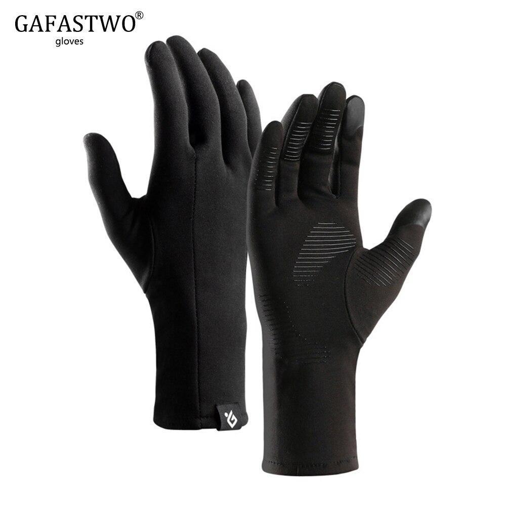 Winter Thin Section Warm All Finger Light Touch Screen Men'S Gloves Ladies Running Plus Velvet Anti-Skid Windproof Riding Gloves