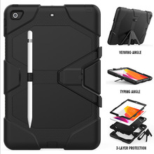 For iPad 10.2 2019 7th Gen Case Waterproof Shock Dirt Snow Sand Proof Extreme Army Military Heavy Duty Kickstand For iPad 10.2