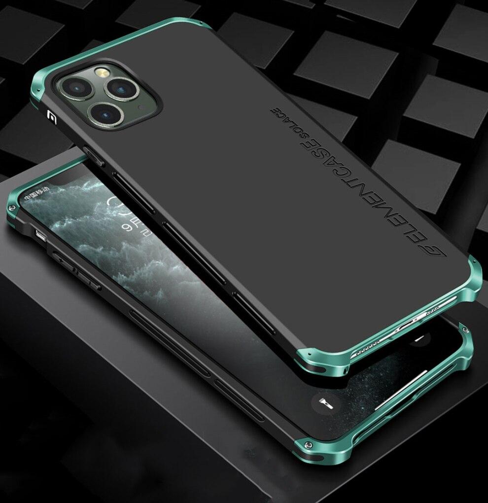 Luxury Shockproof Armor Element Metal Case Hard Aluminium Plastic Cover For For Iphone 12 Pro Max 11 XS XR 6 7 8 Plus 5 SE