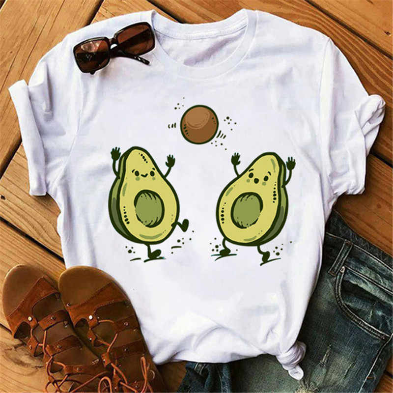 Avocado Vegan Frauen T Shirt Ulzzang 2020 Kawaii Cartoon T-shirt Harajuku 90s Grafik Weibliche Kurzarm T-shirt Sommer Kleidung