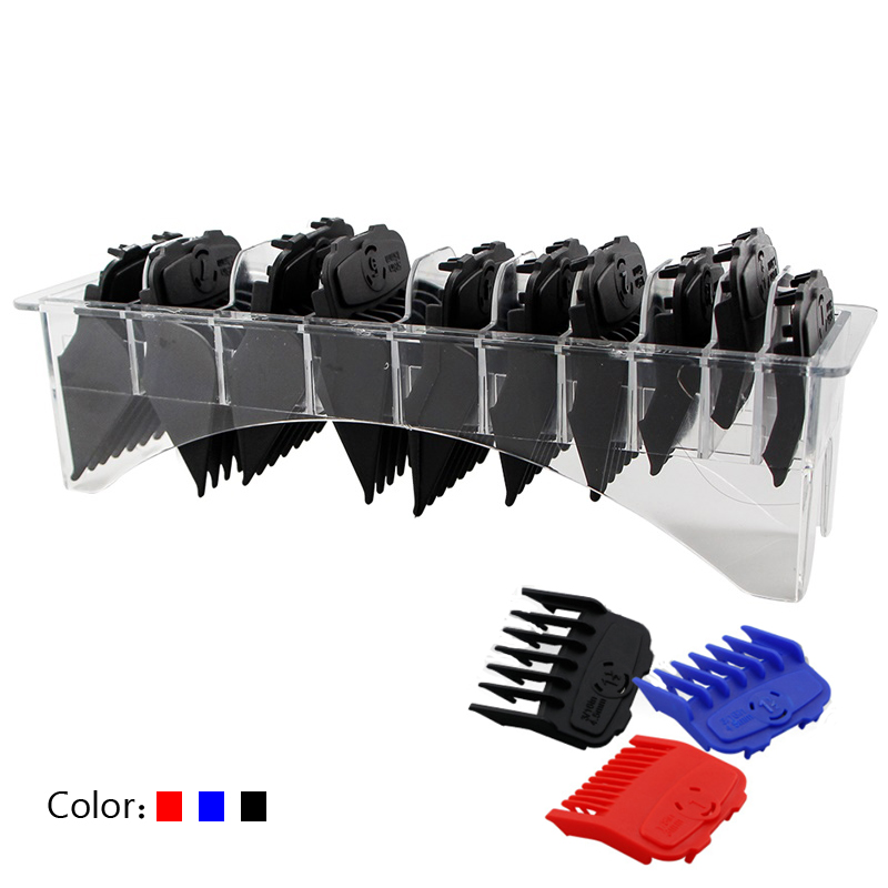 Men's Hair Clipper Trimming Guide Comb Set Three-color Limit Comb Strong Magnetic Buckle Design Hair Clipper Limit Comb Box