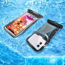 2 sztuk uniwersalny wodoodporny telefon etui na iPhone 12 11Pro X XS MAX pokrywa etui pływające torba etui na telefony dla Samsung S21 uwaga 20
