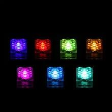 1 pcs 2x2 LED 조명 벽돌 호환 레고