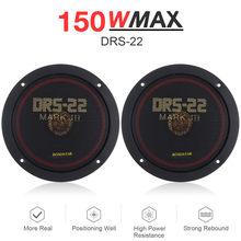2 pces 6.5 Polegada 150w alto-falante coaxial carro auto música estéreo gama completa de freqüência alto-falante de carro de alta fidelidade instalação não-destrutiva