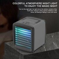 Mini refrigerador de ar portátil ventilador de ar condicionado ventilador de espaço pessoal refrigerador de ar ventilador de refrigeração para escritório em casa Vent.     -