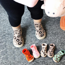 2019 new Baby toddler shoes socks baby soft rubber sole shoes socks Leopard baby toddler floor socks