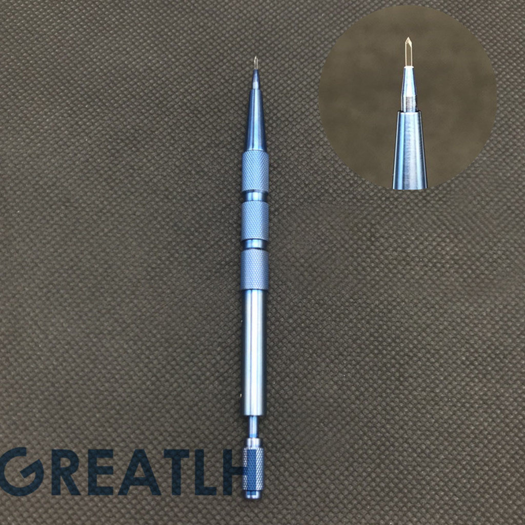 Hair Follicle Planting Pen Tip Extraction Planting Hair Eyebrow Hair Planting Sapphire Blade Manually Implanted Tools Hair Grown