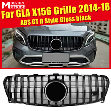 For MercedesMB X156 GLA-Class Sport grille grill GTS style ABS Black Without Sign&camera GLA180 200 250 GLA45 Look Grills 14-16
