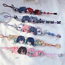 Bracelet de Cosplay fait à la main, accessoires de Cosplay, broderie Kimetsu no Yaiba, Tanjirou Kamado, cadeau de charme